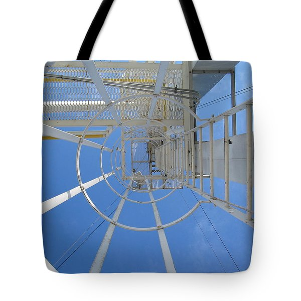 Tote Bag featuring the photograph Ladder by Dylan Punke