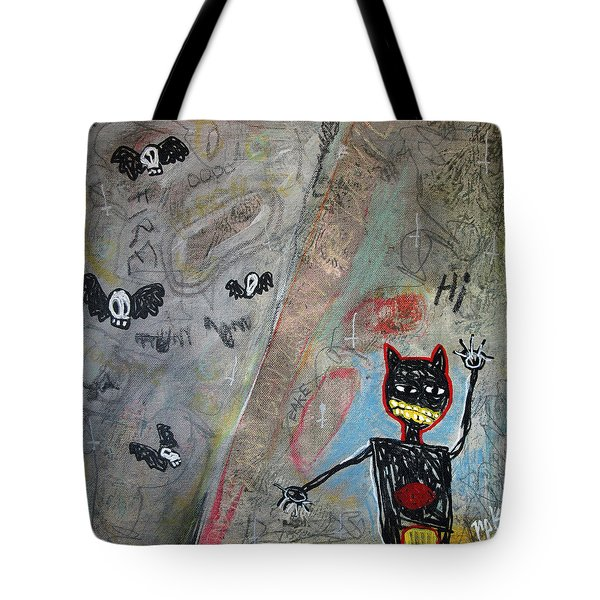 Tote Bag featuring the painting Ladies And Gentlement, The Devil by Rick Baldwin