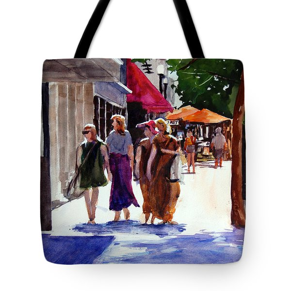Ladies That Shop Tote Bag by Ron Stephens