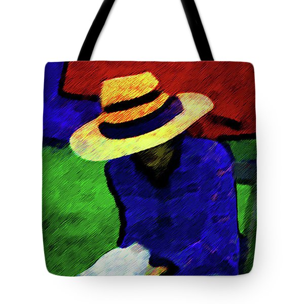 Lady And Puppy Painting Tote Bag
