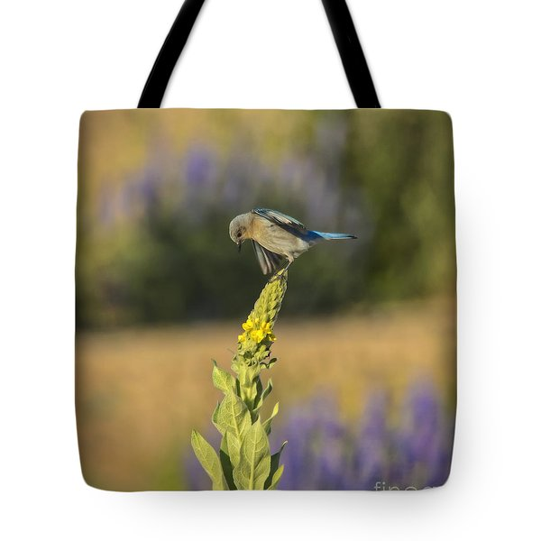 Lady Bluebird Tote Bag