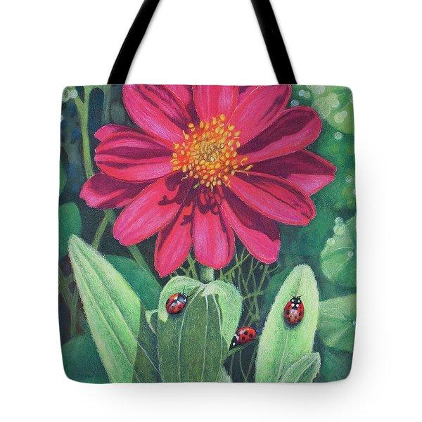 Lady Bug Picnic Tote Bag