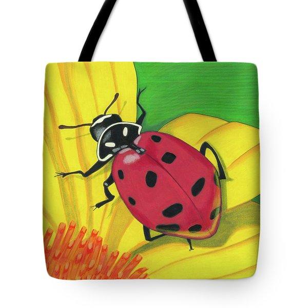 Spring Lady Tote Bag