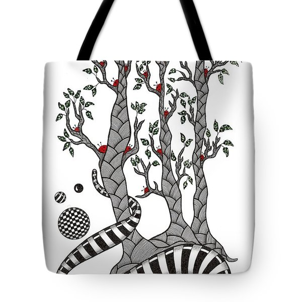 Lady Bug Tree Tote Bag