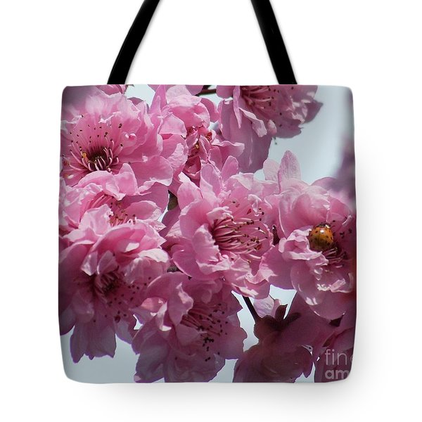 Tote Bag featuring the photograph Lady Bug by Victor K