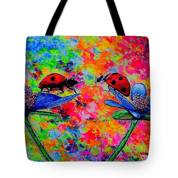 Lady Bugs Tote Bag by Viktor Lazarev