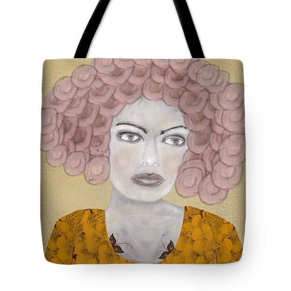 Tote Bag featuring the painting Lady Butterfly by Bri B