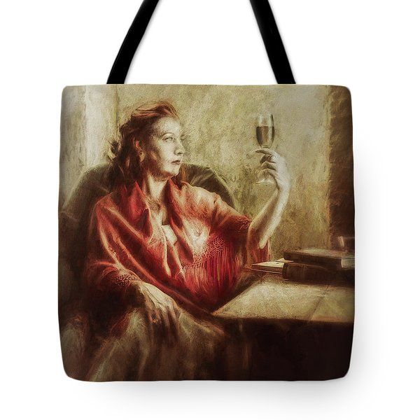 Lady By The Window Tote Bag