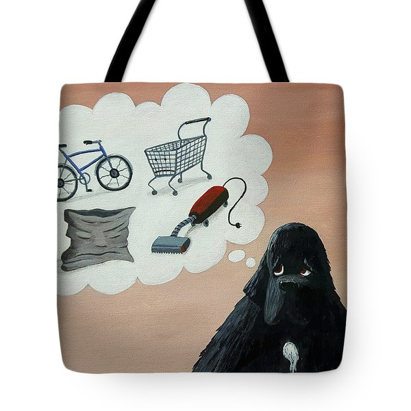 Lady Considers Her Phobias Tote Bag