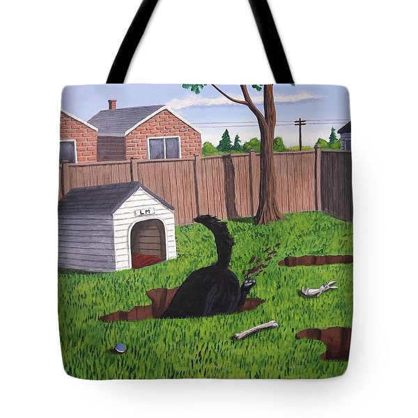 Lady Digs In The Backyard Tote Bag