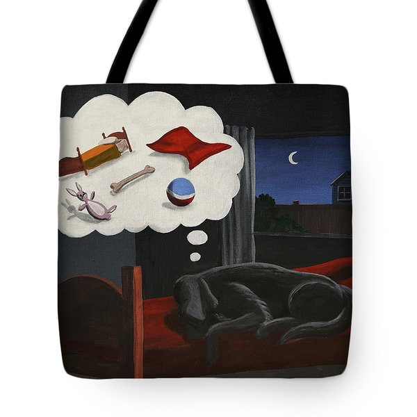 Lady Dreams About Her Favourite Things Tote Bag