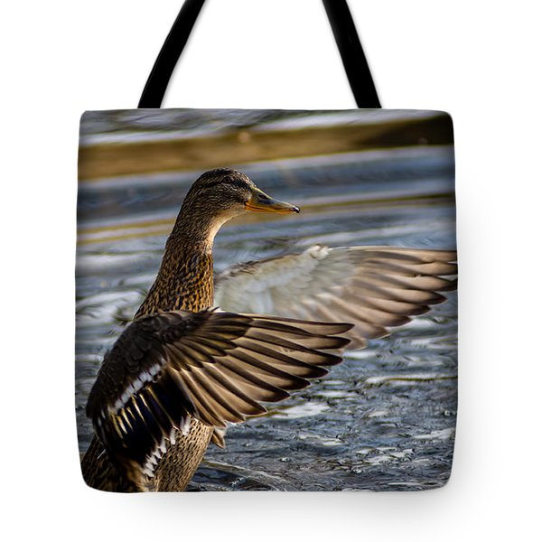 Lady Duck Tote Bag