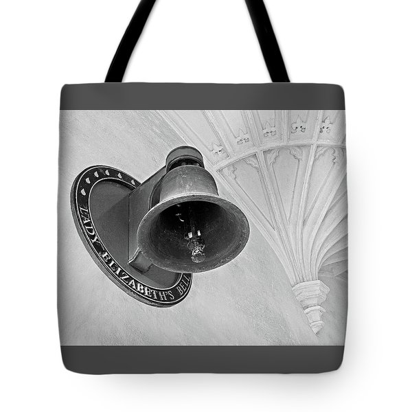 Tote Bag featuring the photograph Lady Elizabeth's Bell Clare College Cambridge by Gill Billington