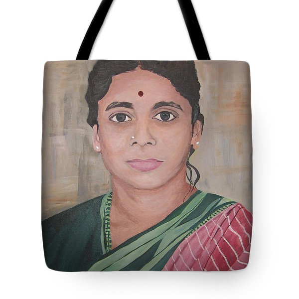 Lady From India Tote Bag
