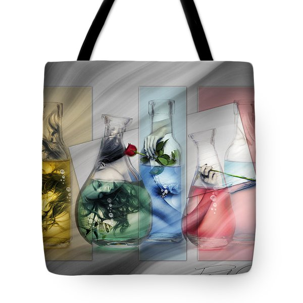 Lady In A Bottle Tote Bag