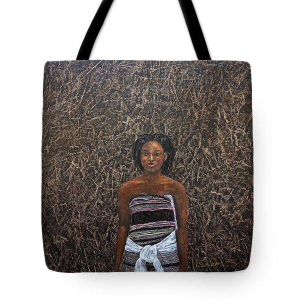 Lady In  A Kikoyi Tote Bag