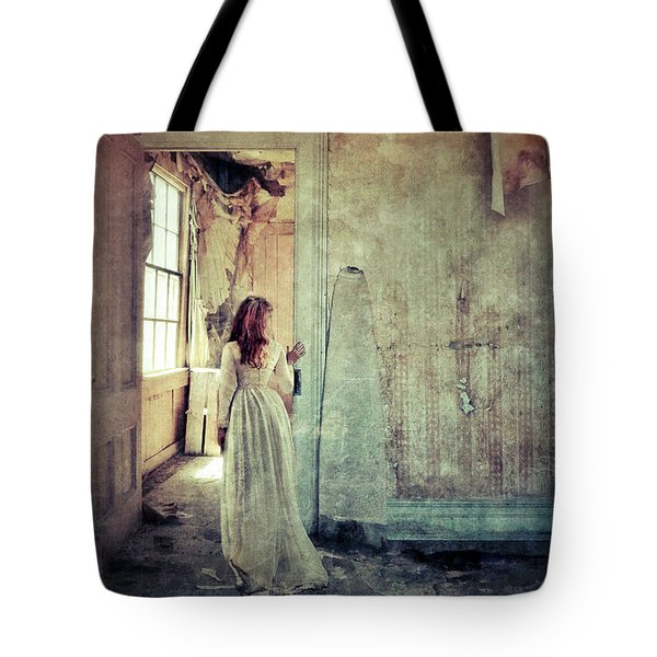 Lady In An Old Abandoned House Tote Bag by Jill Battaglia