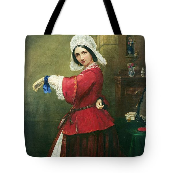 Lady In French Costume Tote Bag by Edmund Harris Harden