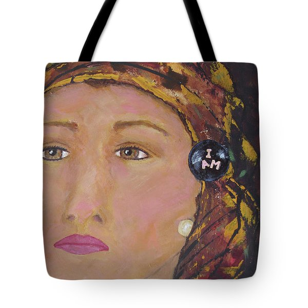Lady In Head Scarf  Tote Bag