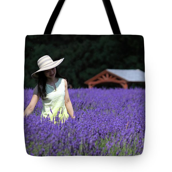 Lady In Lavender Tote Bag