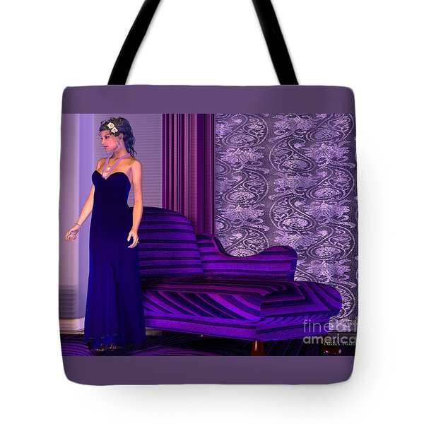 Lady In Lilac Room Tote Bag