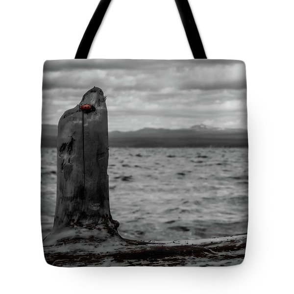 Lady In Red Tote Bag