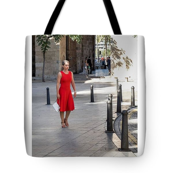 Lady In Red. Valencia, Spain  #fuji Tote Bag