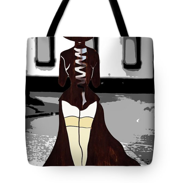 Lady In Stockings Tote Bag