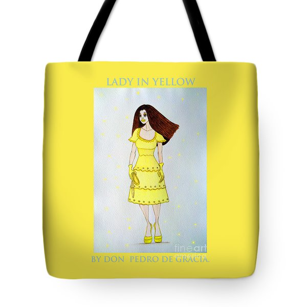 Lady In Yellow Tote Bag by Don Pedro De Gracia