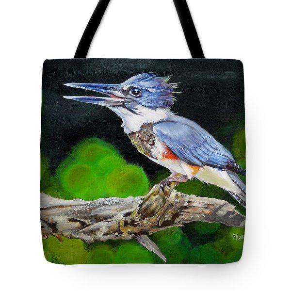 Lady Kingfishers Song Tote Bag