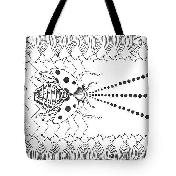 Lady Laser Bug Tote Bag
