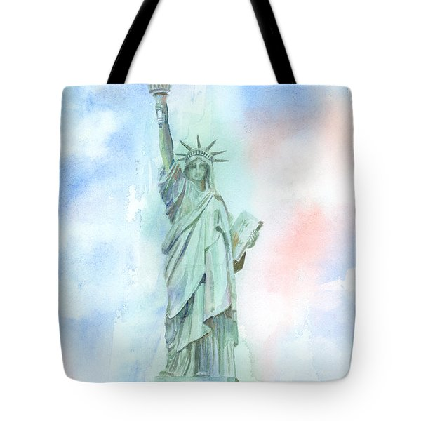 Lady Liberty Tote Bag by Arline Wagner