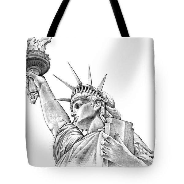 Lady Liberty Tote Bag by Greg Joens