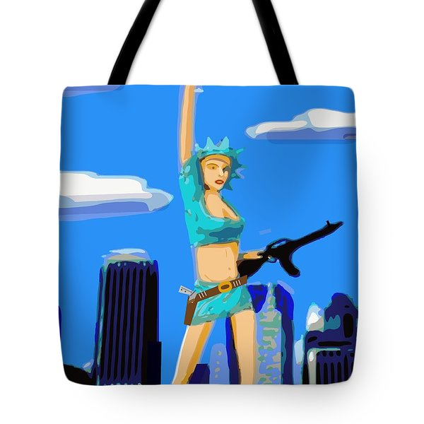 Lady Liberty Not Always A Lady Tote Bag