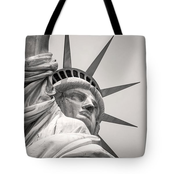 Lady Libety In Black And White Tote Bag