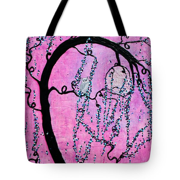 Tote Bag featuring the mixed media Lady Luna by Natalie Briney