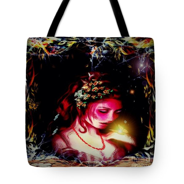 Lady Magic Butterfly Tote Bag