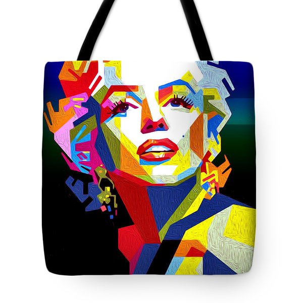 Lady Monroe Tote Bag