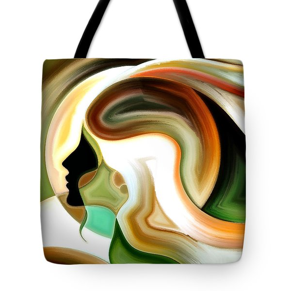 Lady Of Color Tote Bag by Karen Showell