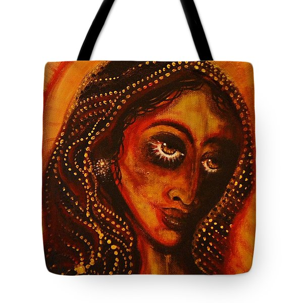 Lady Of Gold Tote Bag