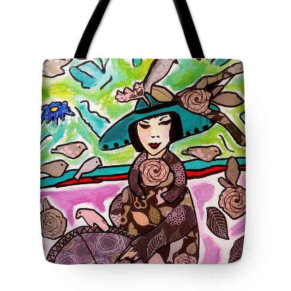 Lady Of The Birds Tote Bag
