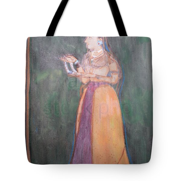 Tote Bag featuring the painting Lady Of The Court by Vikram Singh