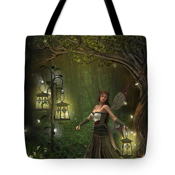 Lady Of The Lanterns Tote Bag