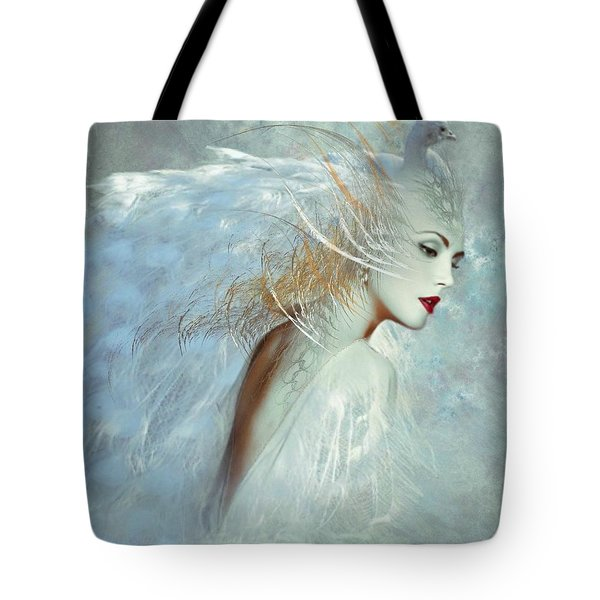 Lady Of The White Feathers Tote Bag