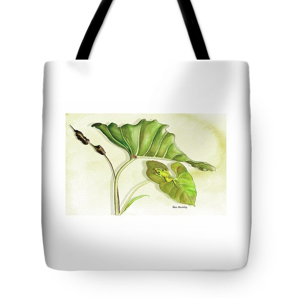 Lady On A Leaf Tote Bag
