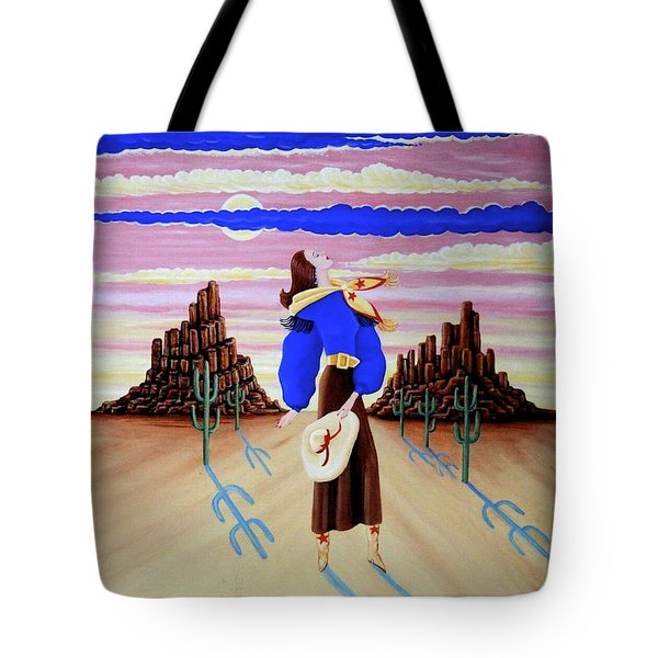 Lady On The Range Tote Bag by Tracy Dennison