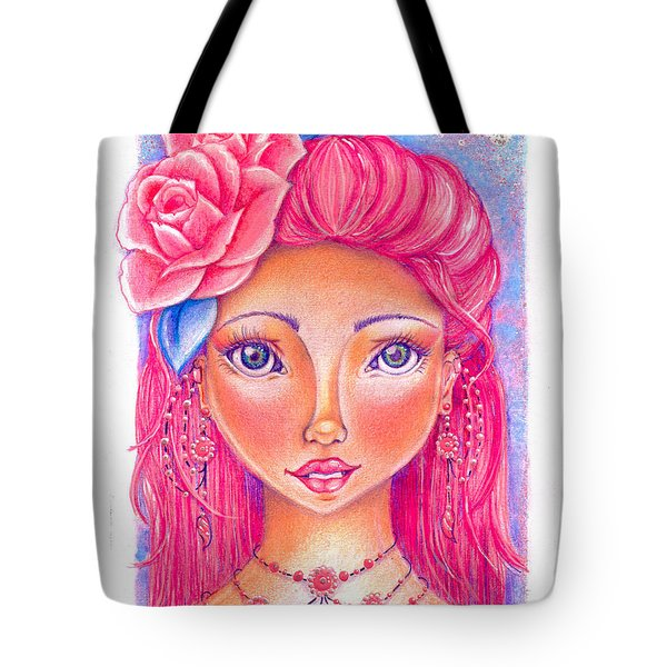 Lady Rose Tote Bag by Delein Padilla