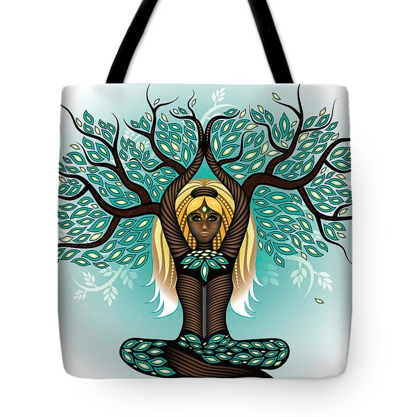 Lady Shaman Tree Tote Bag