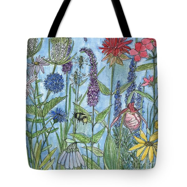 Lady Slipper In My Garden  Tote Bag