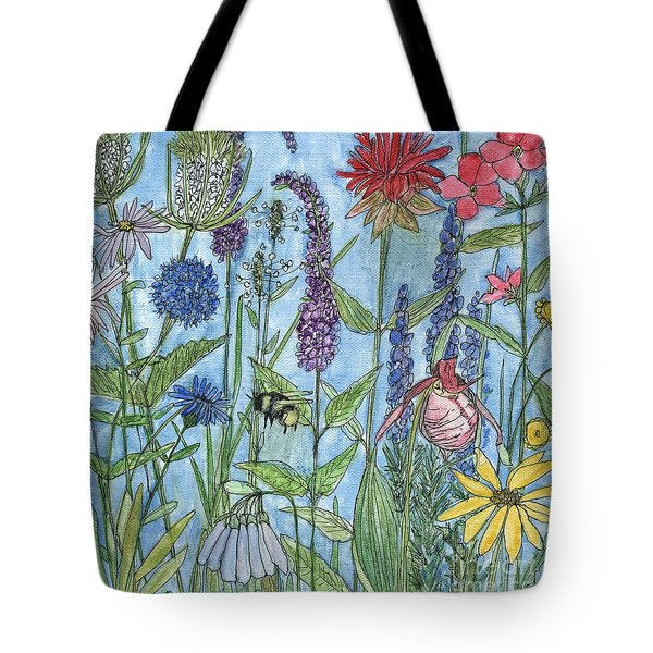 Lady Slipper In My Garden  Tote Bag by Laurie Rohner